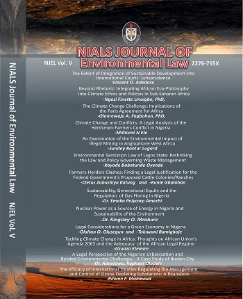 NIALS Journal of Environmental Law