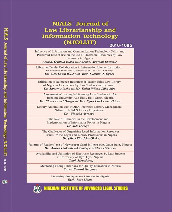 NIALS Journal of Law Librarianship and Information Technology (NJOLLIT)