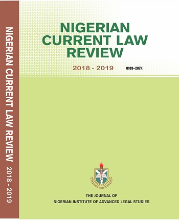 Nigerian Current Law Review 2018-2019